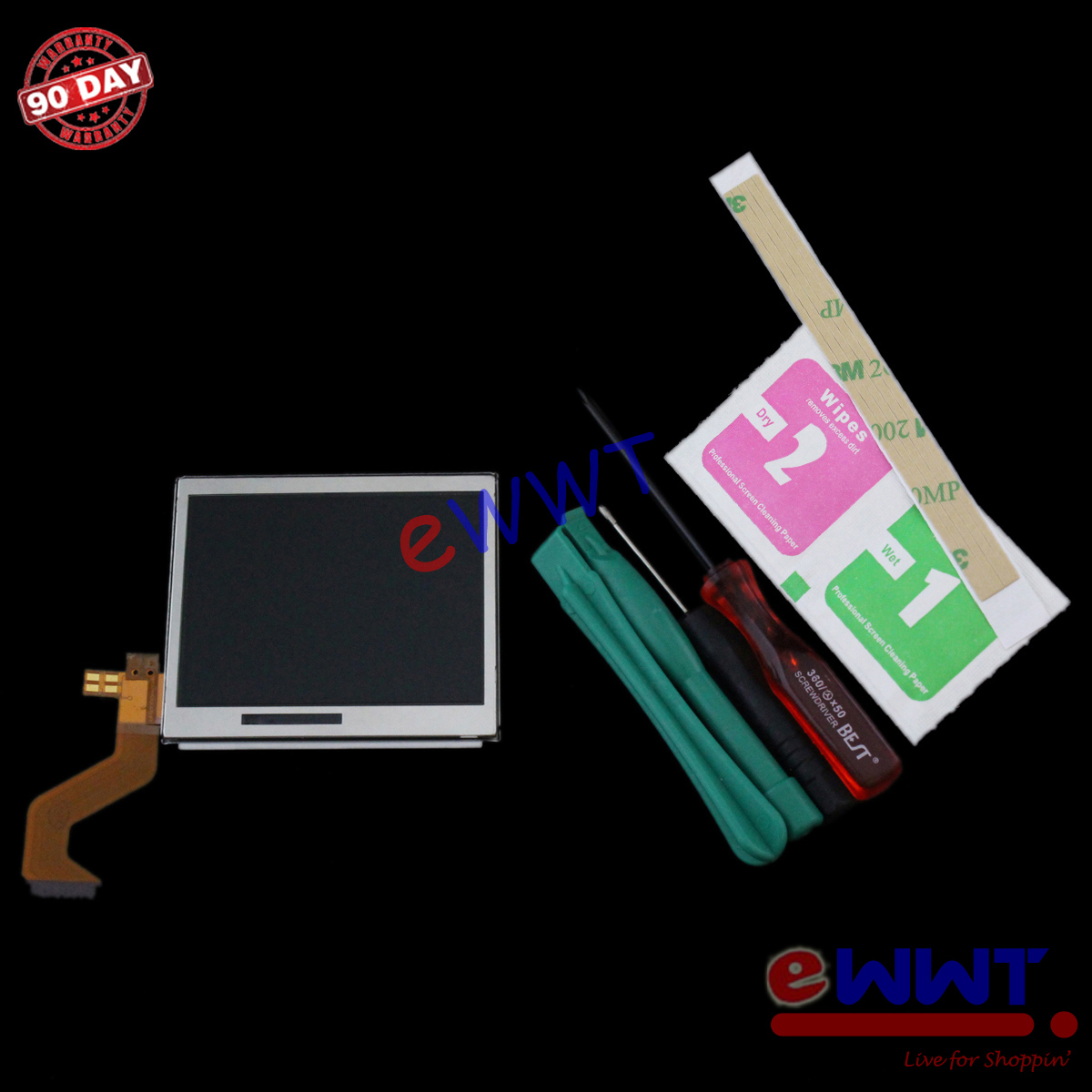 replacement top upper lcd display screen tools for ndsl nintendo ds lite zvls060 ebay. Black Bedroom Furniture Sets. Home Design Ideas