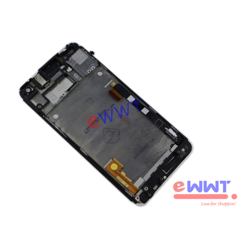 for htc one m7 801s 801n assembly oem silver lcd display. Black Bedroom Furniture Sets. Home Design Ideas