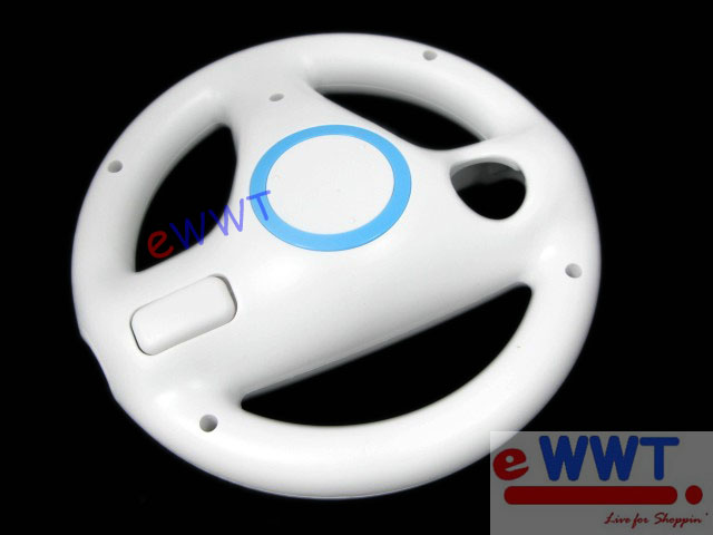 2x-for-Nintendo-Wii-HQ-Mario-Racing-Game-Steering-Controller-Wheel-White-ZVOT124