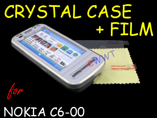 nokia c6 00 cover. for Nokia C6-00 Crystal Clear Cover Hard Case +LCD Film | eBay