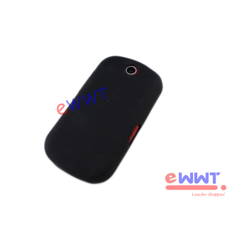 Black-Silicone-Skin-Soft-Back-Cover-Case-LCD-Film-for-LG-P350-Optimus-Me-ZVSF052