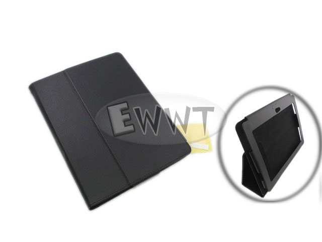 FREE-SHIP-for-Sony-Tablet-S-S1-Black-Leather-Cover-Soft-Case-with-Stand-ZVLR126
