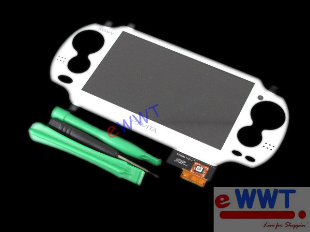 Replacement White Front Touch Screen Pad Panel Tool for Sony